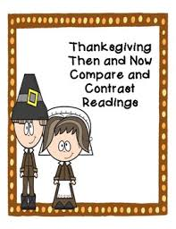 thanksgiving compare and contrast then and now reading passage