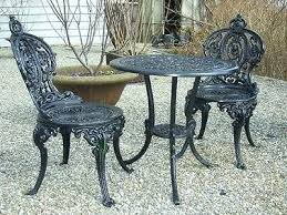 wrought iron bistro table and chair set cast iron lawn furniture iron patio furniture lesgavroches co