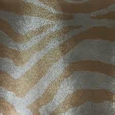 vinyl upholstery fabric chester gold zebra animal print faux
