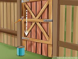 How To Build A Simple Wood Shed by How To Build A Wooden Gate 13 Steps With Pictures Wikihow