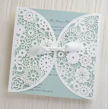 wedding invitations lace laser cut floral lace personalised wedding invitations