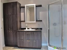 vanité chambre de bain salle bain maison vendre st come province large miroir vanite