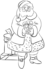 santa claus gifts coloring free printable coloring pages