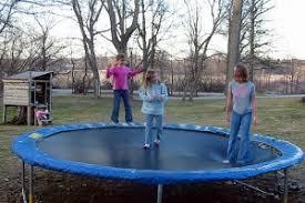 Safest Trampoline For Backyard by Are Backyard Trampolines Worth The Risk Babycenter Blog