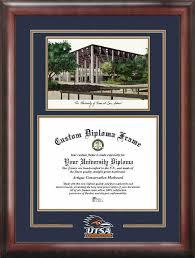 of south carolina diploma frame of san antonio utsa roadrunners diploma frames
