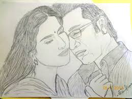 love couple sketch pencil drawing collection