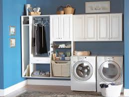 home design laundry room cabinets with hanging rod banquette
