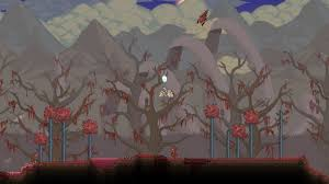 creepy crimson sky halloween background there is a huge skeleton in the background of the crimson could