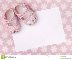 Blank Invitation Cards New Baby Announcement Stock Photo Image 49959655