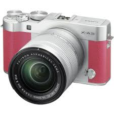 fujifilm x a3 mirrorless digital camera with 16 50mm lens pink