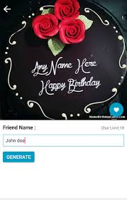 happy birthday cake with name android apps on google play