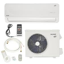 hallman 12 000 btu 1 ton ductless mini split air conditioner with
