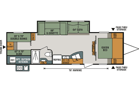 Travel Trailers With Bunk Beds Floor Plans 301bhle Sportsmen Le Travel Trailer Kearney Ne Mason Rv