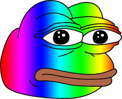 Rainbow Meme - pepe meme frog rainbow stickers by tshirtwaffle redbubble