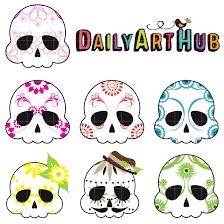 sugar skulls for sale sugar skulls clip set daily hub free clip everyday