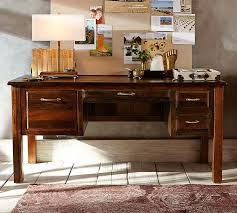 Reclaimed Office Furniture by Bowry Reclaimed Wood Desk Pottery Barn
