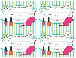 free printable invitations 6 marvelous free printable spa party invitations templates