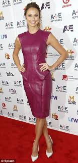 Brandi Passante Storage Wars Nude - stacy keibler is ravishing in a tight wine coloured leather peplum