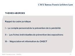 Pénibilité Au Travail Atelier De La Commission Sociale Medef 19 Cms Bureau Francis Lefebvre Lyon