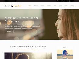 backyard u2014 free wordpress themes