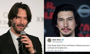 Meme Driver - this adam driver keanu reeves face swap meme is turning the