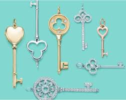 key heart necklace tiffany images Tiffany inspired key pendant necklaces thegloss jpg