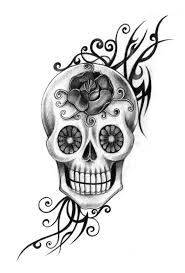 skull day of the dead stock illustration