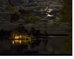 lakes cloudy lake moon cabin clouds wallpaper download for hd 16