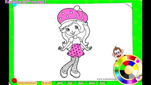 strawberry shortcake coloring pages for kids strawberry coloring