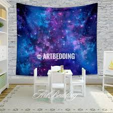 galaxy tapestry blue space stars nebula wall tapestry galaxy