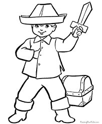 pirate coloring pages for preschool pirate boy waving flag