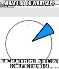 Meme Generator Pie Chart - what i do on whatsapp blue talk to people white just scroll the
