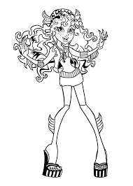 monster high coloring pages baby abbey bominable monster high coloring pages print monster high free blue monster