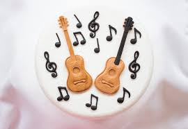 guitar cake topper guitar musical notes cake topper 14pcs edible fondant ideal