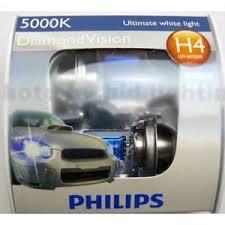 philips diamond vision 5000k headlight bulb pair h4 car lights