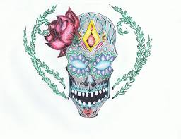 my sugar skull tattoo design by wolf angel whitewing on deviantart