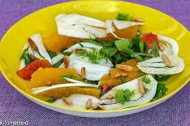 cuisiner le fenouil cru recette de salade de fenouil à l orange et aux pignons de pin