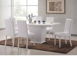 White Furniture Set Chair Beautiful White Glass High Gloss Extending Dining Table And