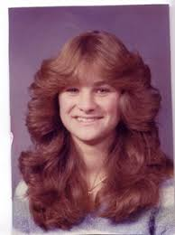 1980s feathered hair pictures my girls can thank me for never doing this to them i don t know