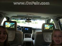 autotain headrest dvd player install in cadillac escalade