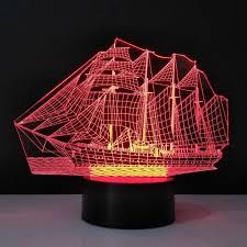 le de bureau led le bateau 3d le de bureau led light acrylique bulbaison