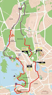 Map Run Route by Helsinki City Run World U0027s Marathons