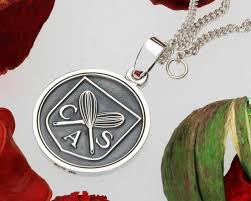 custom silver pendants personalised silver wax seal pendants your own custom design
