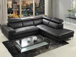 canapé d angle cuir noir canapé d angle en cuir de vachette 5 coloris colisee