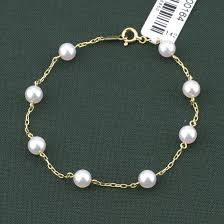 pearl bracelet with yellow gold images Mikimoto 18k yellow gold 5x5 5mm pearl chain bracelet windsor jpg