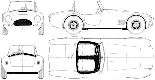 1963 ac cobra 289 cabriolet blueprint vehicles pinterest ac