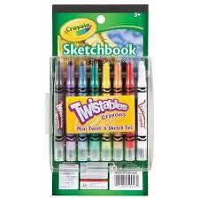 crayons twistables mini twist u0026 sketch pack of 16 crayola