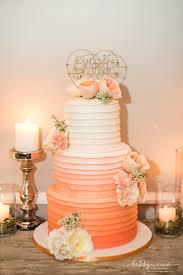 peach ombre wedding cake modern romantic wedding at the metropolitan building nyc wedding