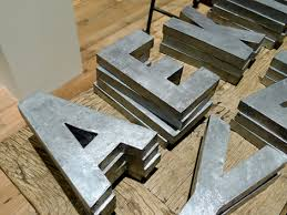 faux zinc letters easy to make like the expensive kind they