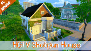 the sims 4 cc speed build hgtv shotgun house youtube